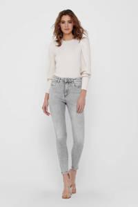 ONLY slim fit jeans ONLMILA grijs, Grijs