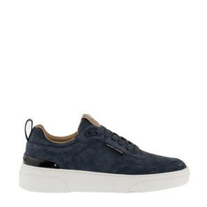 T1920 PSU M  suède sneakers donkerblauw