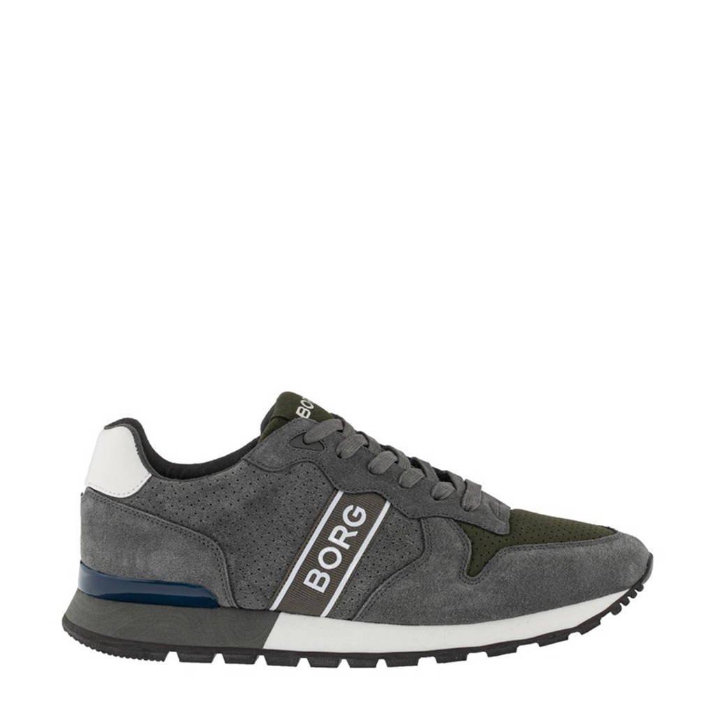 Björn Borg R455 PRF M  sneakers grijs/olijfgroen, Grijs/olijfgroen