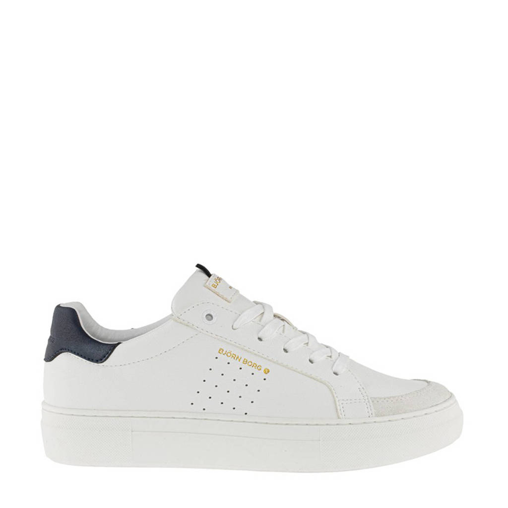 Björn Borg T1600 CLS M  sneakers wit/blauw, Wit/blauw