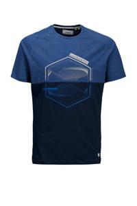 PRODUKT T-shirt Casper van biologisch katoen blauw, Blauw