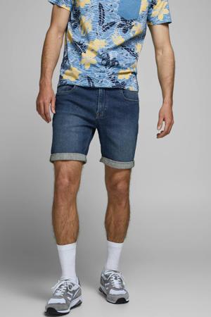 regular fit jeans short dark denim