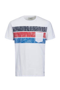 PRODUKT T-shirt Unsiders met printopdruk wit, Wit