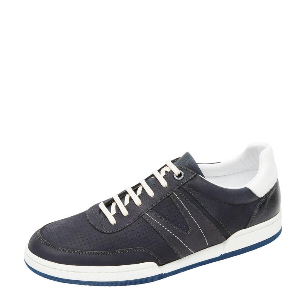 Van Lier Treviso  nubuck sneakers donkerblauw, Donkerblauw
