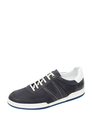 Treviso  nubuck sneakers donkerblauw