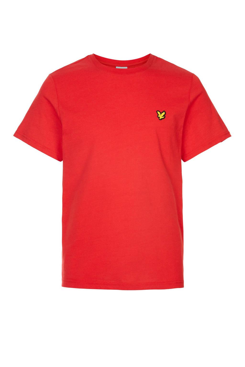 Lyle & Scott T-shirt rood, Rood