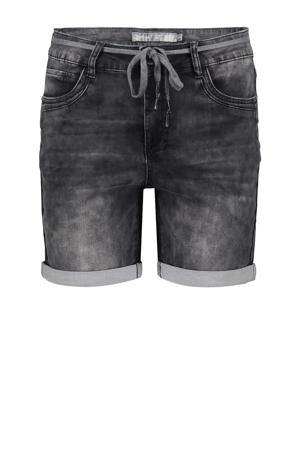 slim fit jeans short donkergrijs