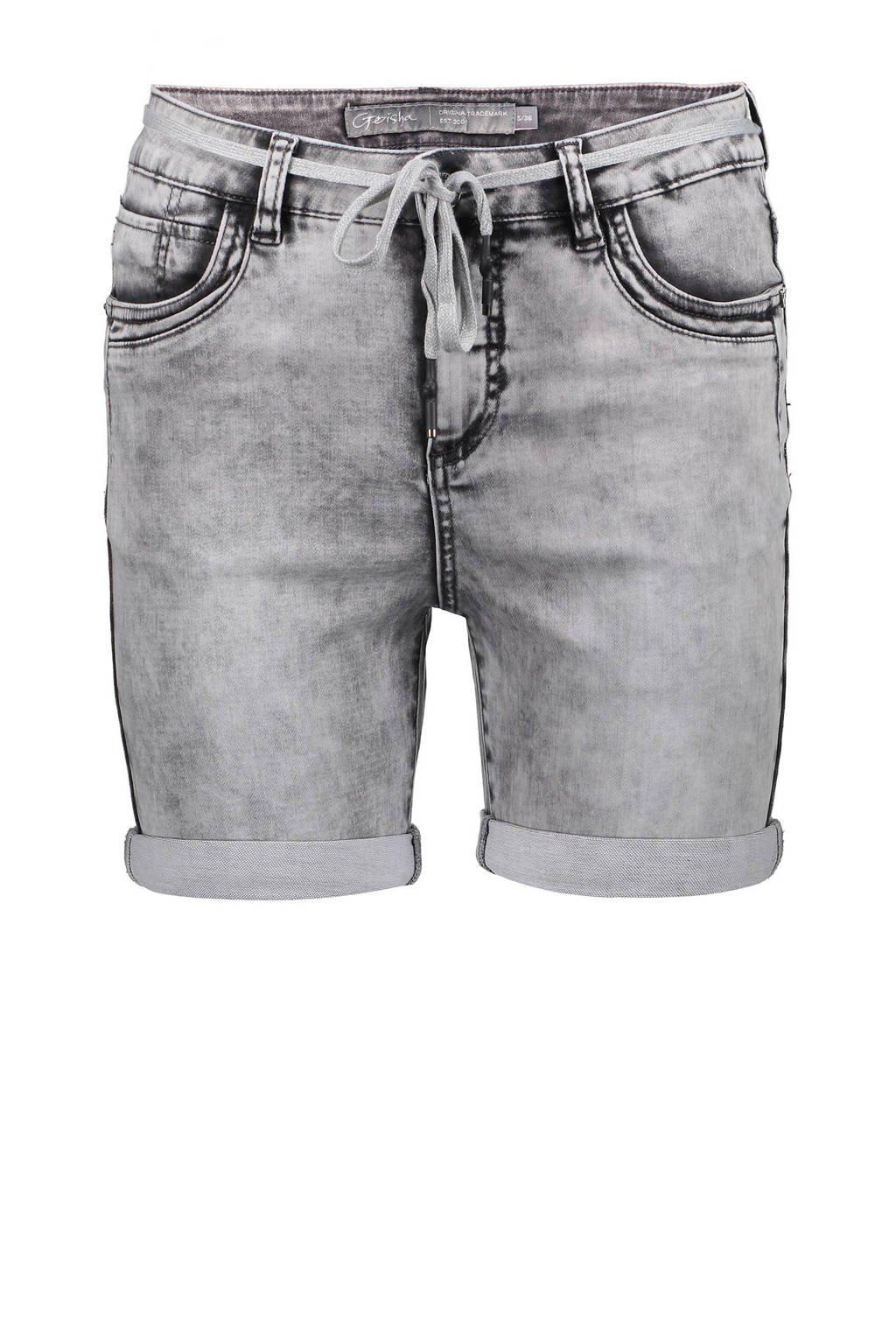 Geisha slim fit jeans short grijs, Grijs