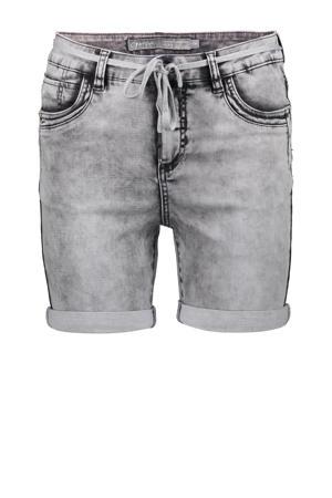 slim fit jeans short grijs