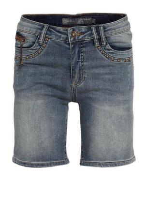 slim fit jeans short donkerblauw