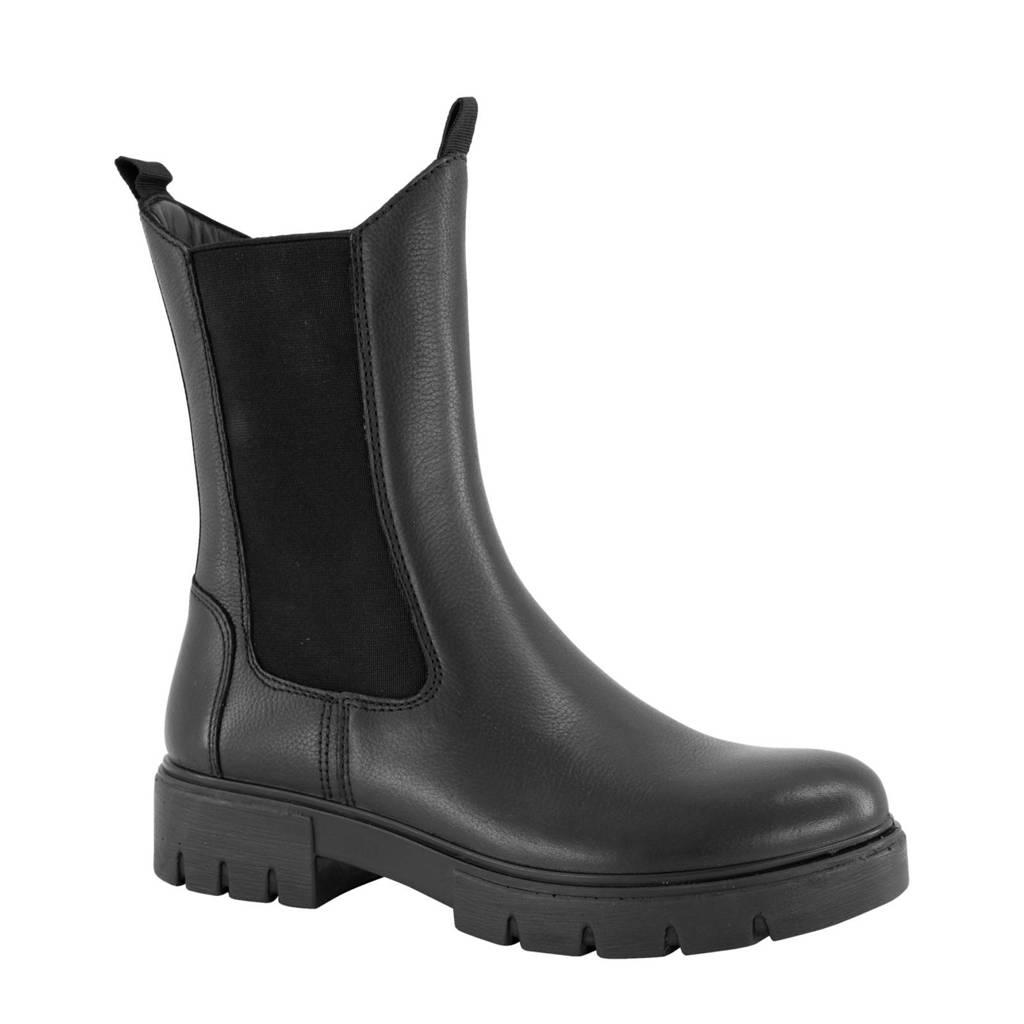 Oxmox   hoge leren chelsea boots zwart, Zwart