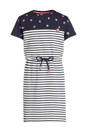 gestreepte jurk donkerblauw/wit