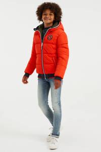 WE Fashion reversible winterjas army groen/neon oranje, Army groen/neon oranje