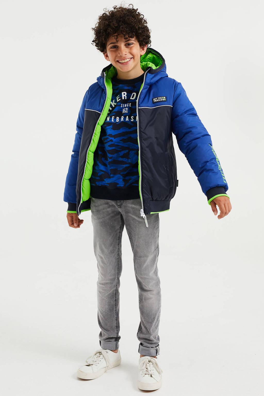 WE Fashion reversible winterjas kobalt, Kobalt