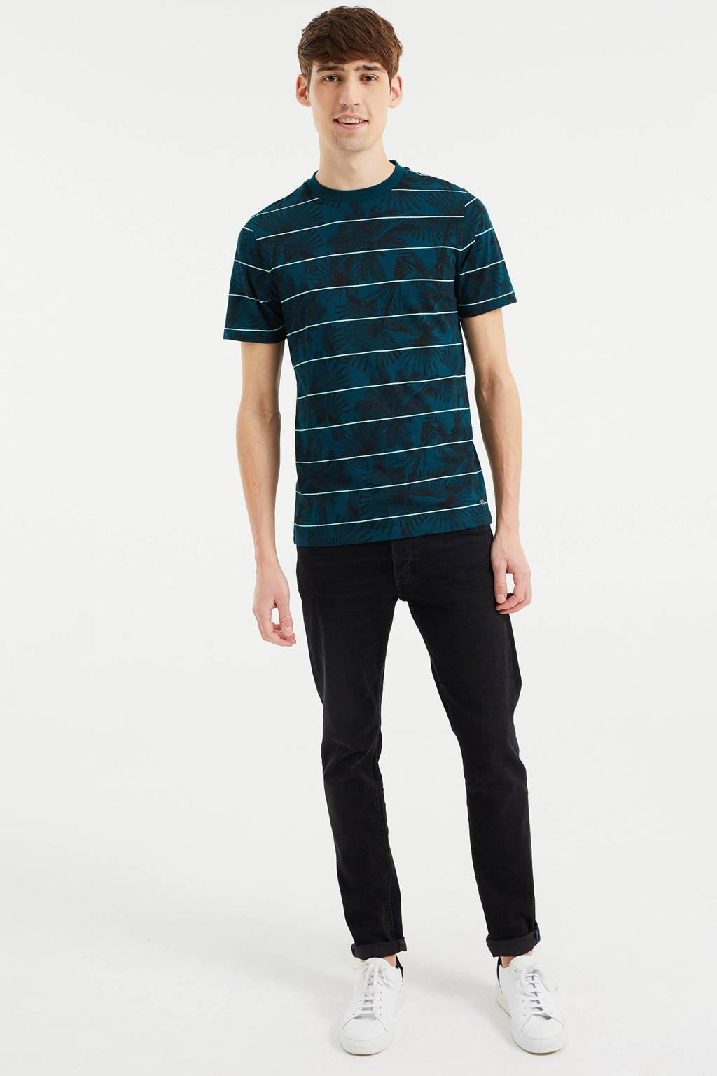 WE Fashion slim fit T-shirt met all over print Botanic