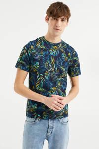 WE Fashion T-shirt met bladprint multi, Multi