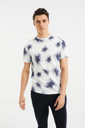 gebloemd T-shirt new ivory
