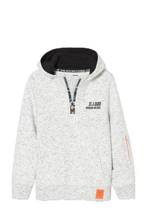 gemêleerde hoodie ecru