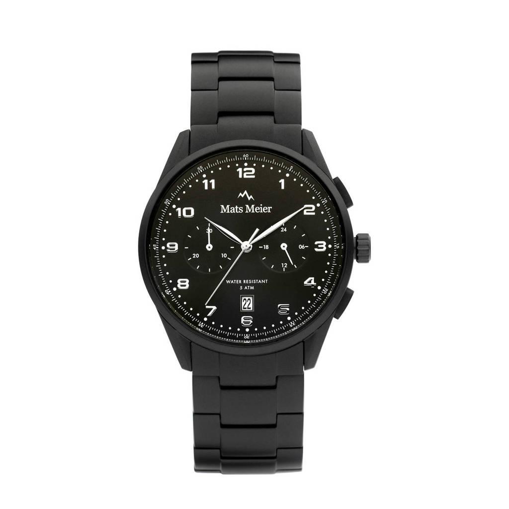Mats Meier horloge Mont Vélan MM10006 zwart, Zwart