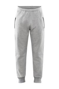Craft   joggingbroek grijs melange, Grijs melange