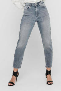 ONLY mom fit  jeans high waist ONLVENEDA grijs, Grijs