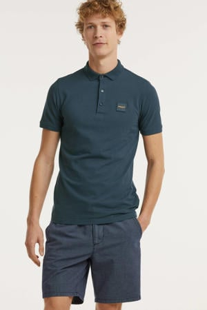 slim fit polo donkerblauw