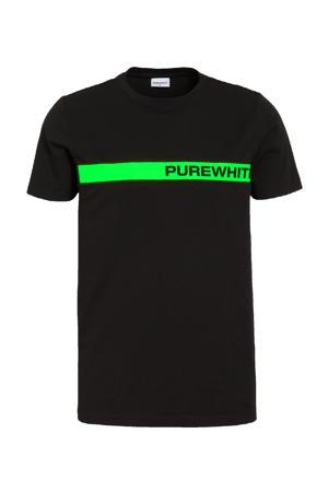 T-shirt met logo zwart/groen