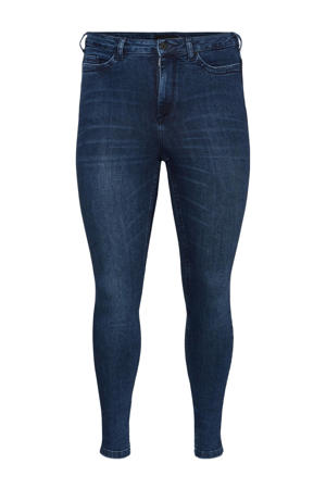 high waist skinny jeans VMLORAEMILIE donkerblauw