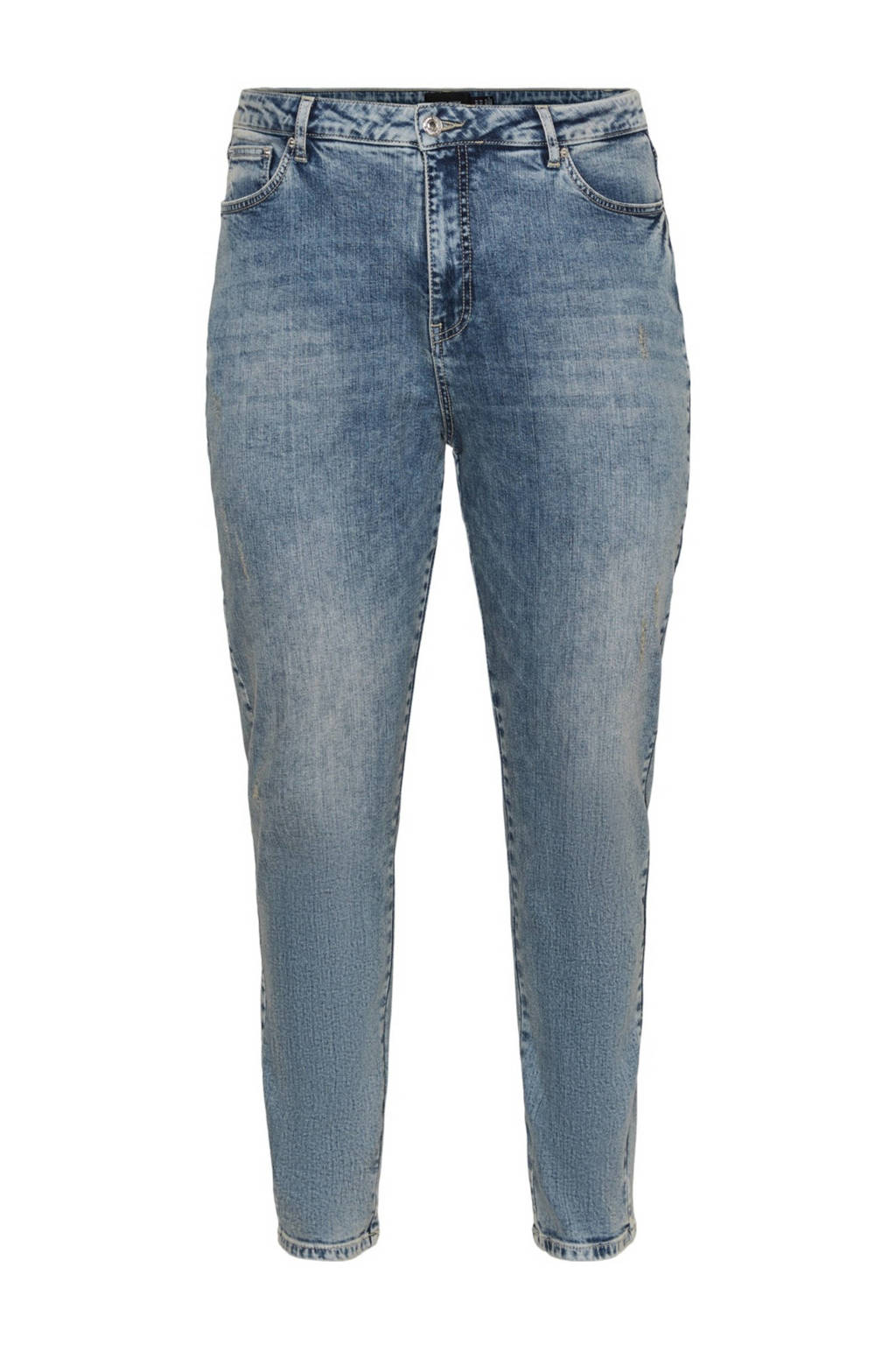 VERO MODA CURVE high waist mom jeans VMVIBE blauw, Blauw