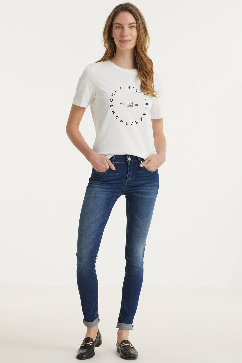 REPLAY skinny jeans NEW LUZ stonewashed, Medium blue