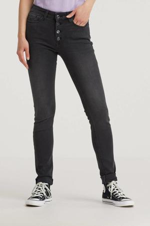 high waist skinny jeans LUZIEN dark grey
