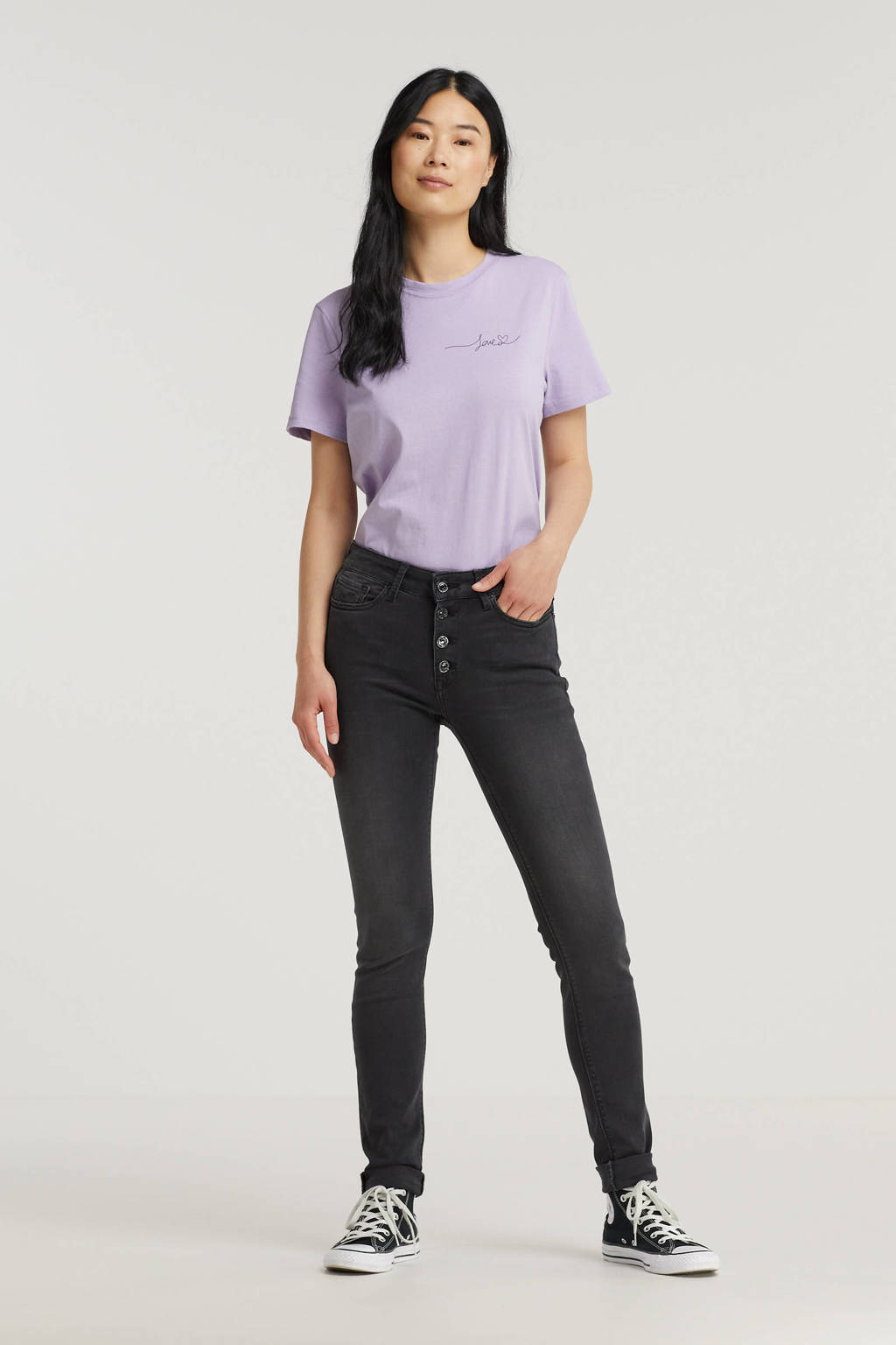 REPLAY high waist skinny jeans LUZIEN dark grey, Dark grey