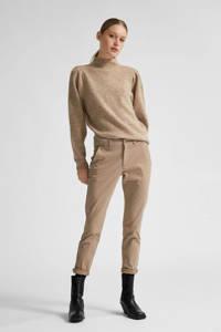 SELECTED FEMME slim fit broek Miley beige, Beige