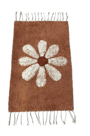 badmat (80x50 cm) Terracotta/Creme