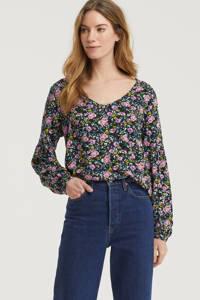 JACQUELINE DE YONG blouse met stippen roze, Roze