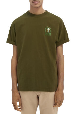 T-shirt met printopdruk army