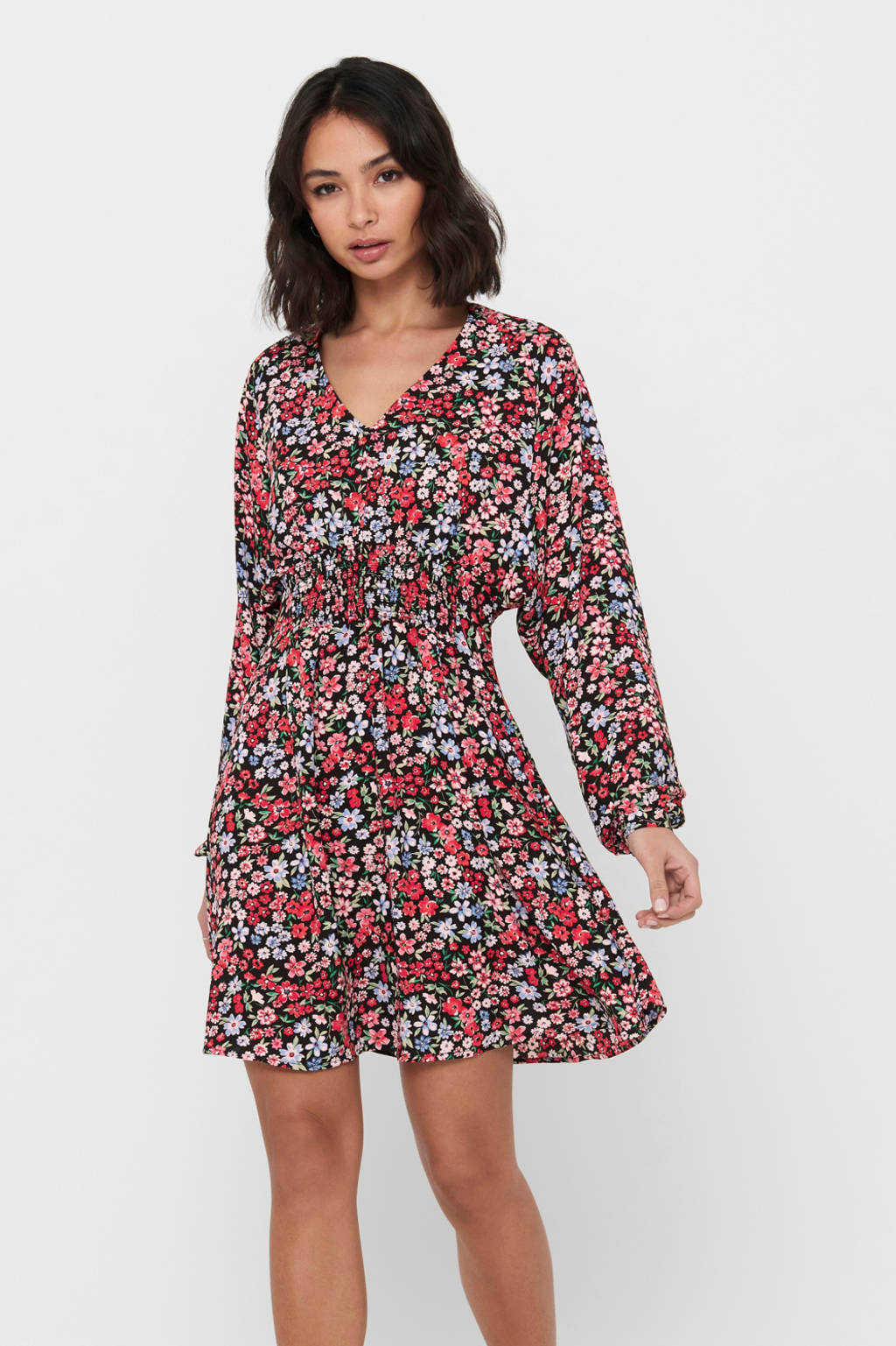 ONLY jurk JDYMIA met all over print rood, Rood