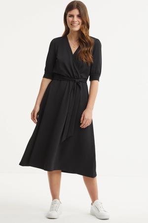 jurk met strikdetail zwart