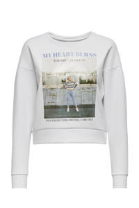 ONLY sweater ALMA met printopdruk wit, Wit
