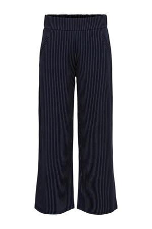 loose fit broek JDYLOUISVILLE  met krijtstreep donkerblauw