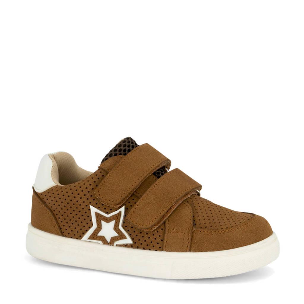 Bobbi-Shoes   sneakers bruin, Bruin/wit