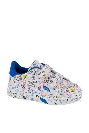 sneakers wit/blauw
