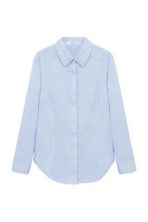 geweven blouse lichtblauw