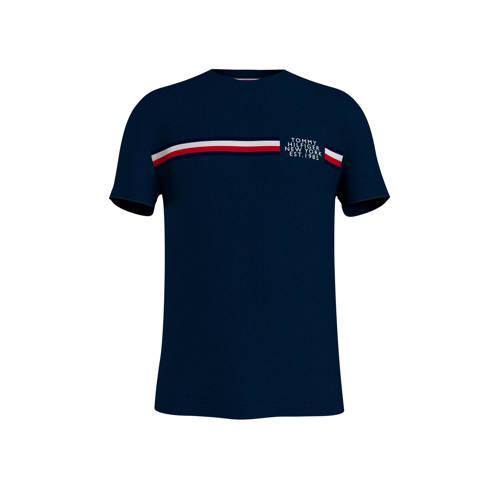 Tommy Hilfiger T-shirt met logo donkerblauw