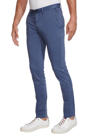 slim fit chino Bleecker TH Flexatin blauw