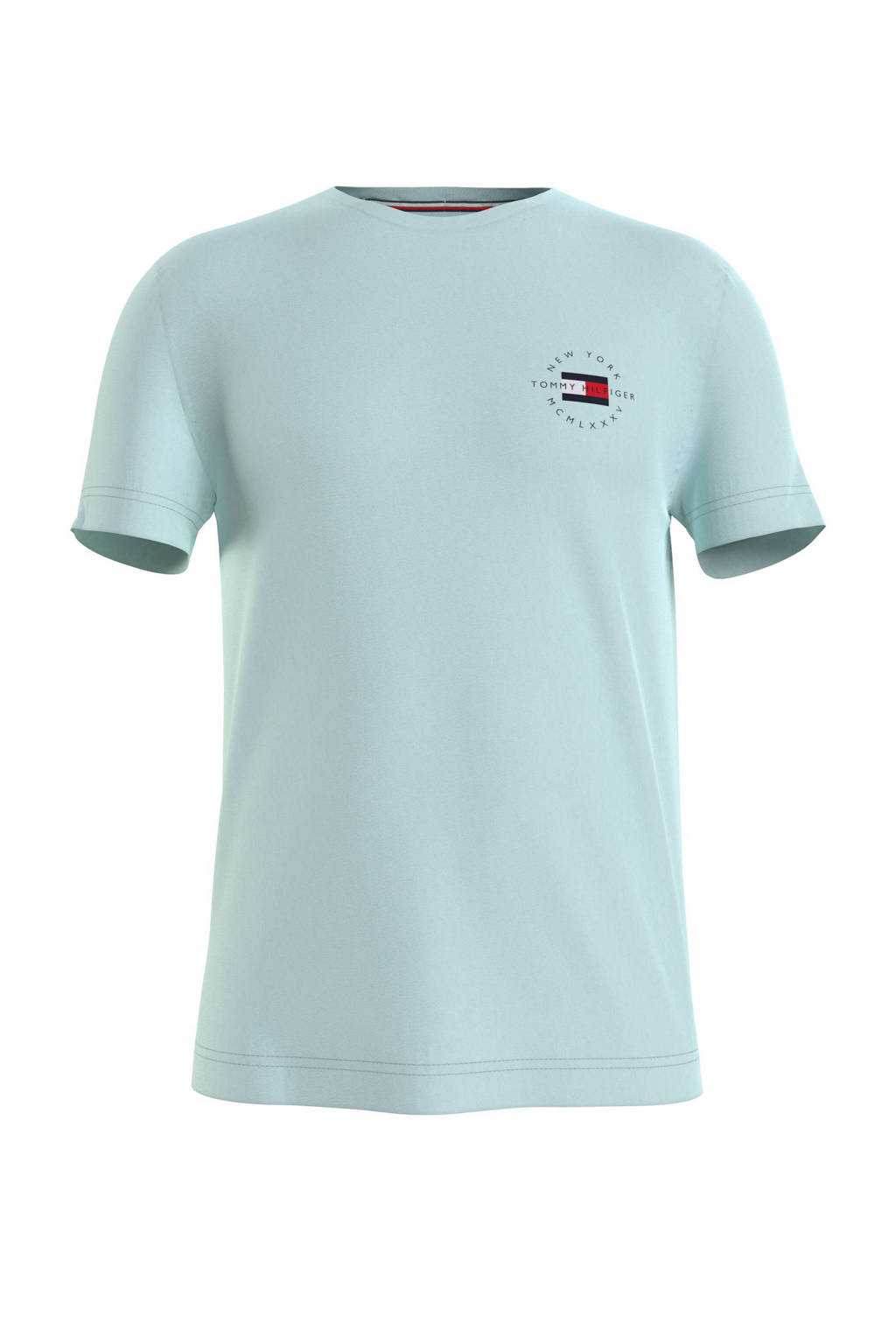 Tommy Hilfiger T-shirt van biologisch katoen mintgroen, Mintgroen