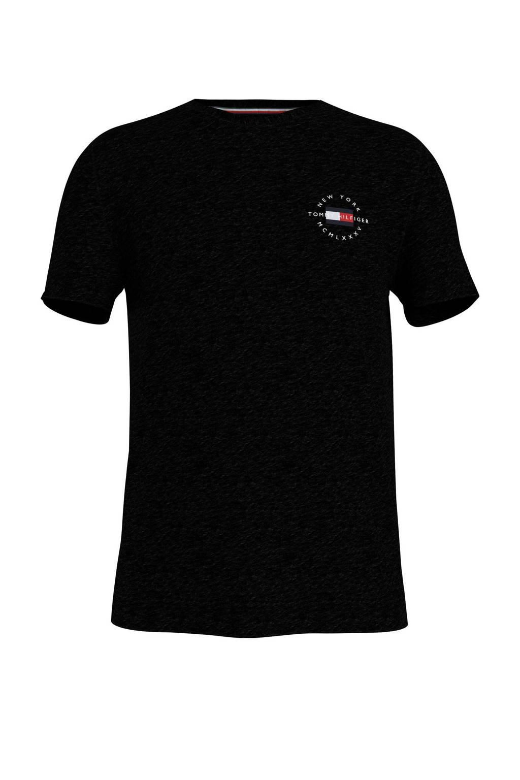 Tommy Hilfiger T-shirt van biologisch katoen zwart, Zwart