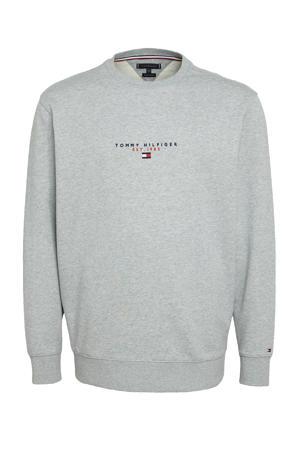+size sweater Plus Size van biologisch katoen grijs melange