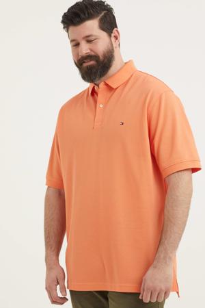 regular fit polo met logo Plus Size zalm