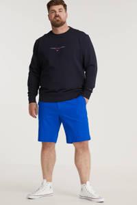 Tommy Hilfiger Big & Tall +size regular fit chino short Brooklyn Plus Size van biologisch katoen bio blue, Bio Blue